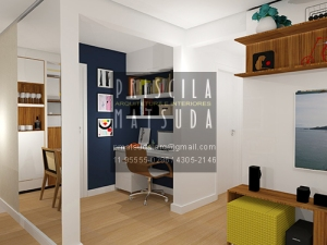 Home Office: pequeno mas com personalidade!