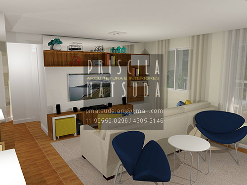 Sala De Estar E Home Office ~ arquitetura e interiores  comprometimento e profissionalismo