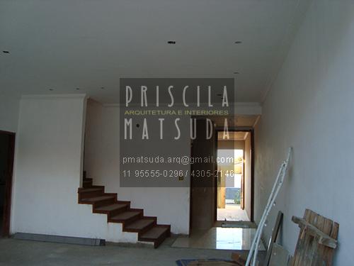 Hall de entrada e escada - ANTES
